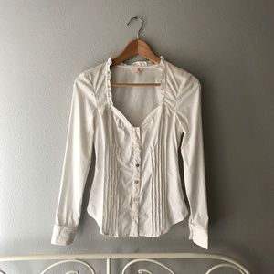 G by Guess Bustier Button Down Shirt
